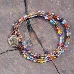 Millefiori Glass Wrap Bracelet