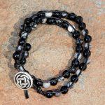 Onyx and Silkstone Wrap Bracelet