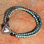 Turquoise Magnasite Wrap Bracelet