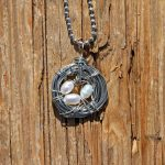 Bird's Nest Necklace with Cultured Pearls
