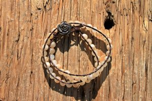 Peach Quartz Wrap Bracelet