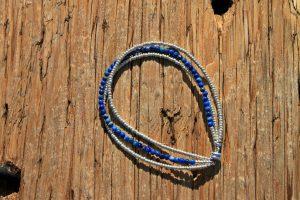 Lapis Triple Strand Bracelet
