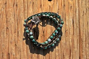 Tree Agate Wrap Bracelet