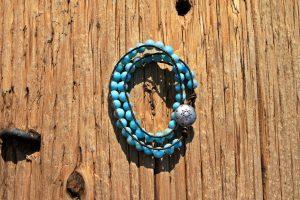 Blue Coral Wrap Bracelet